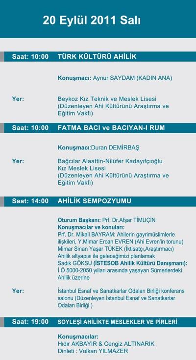 24. Ahilik Kültürü Haftası Programı